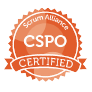 Certified ScrumMaster(CSPO) badge issued by Scrum Alliance