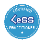 Certified LeSS Practicioner badge
