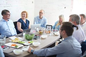 Team meeting of Sprint Consulting's Agile consultants